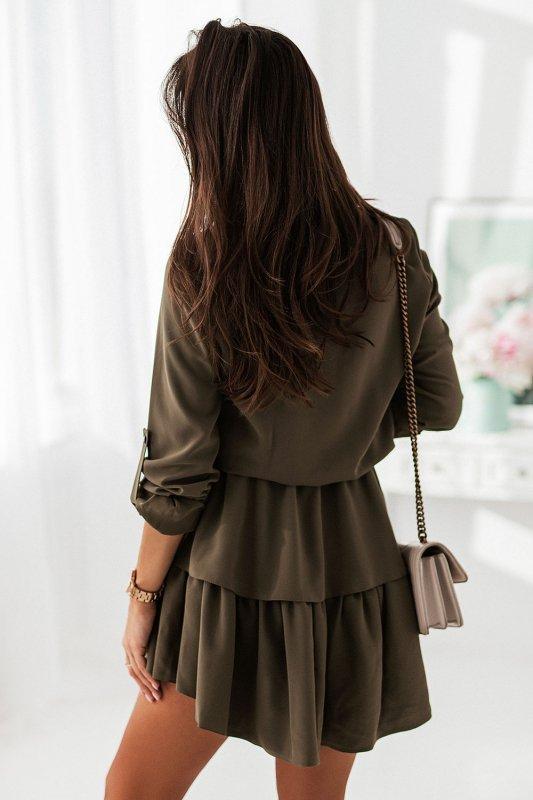 Sukienka Kylie - Khaki - StreetStyle 683