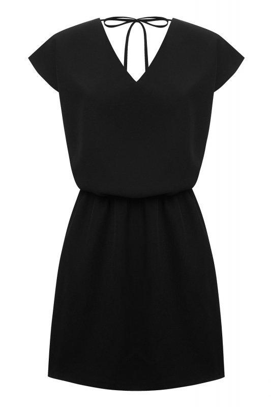 Luźna sukienka o prostym kroju Lena - Czarna