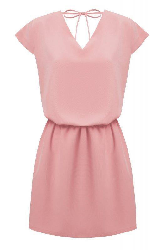 Luźna sukienka o prostym kroju Lena - Różowa
