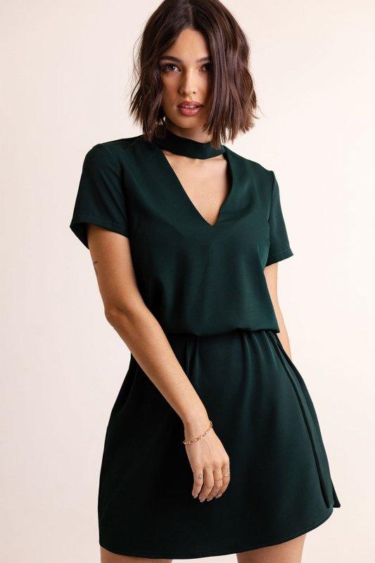 Sukienka Francesca z chokerem - Zielona - 1