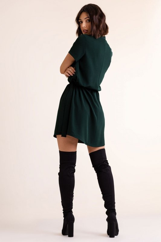 Sukienka Francesca z chokerem - Zielona - 3