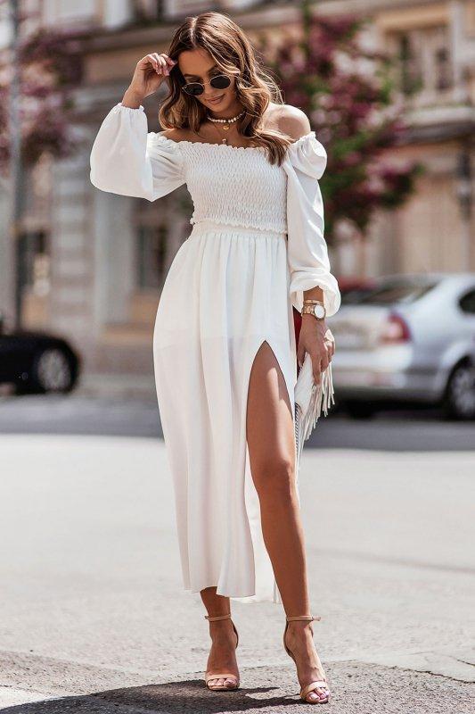 Komplet Tiffi - top z długą spódnicą - cream_2