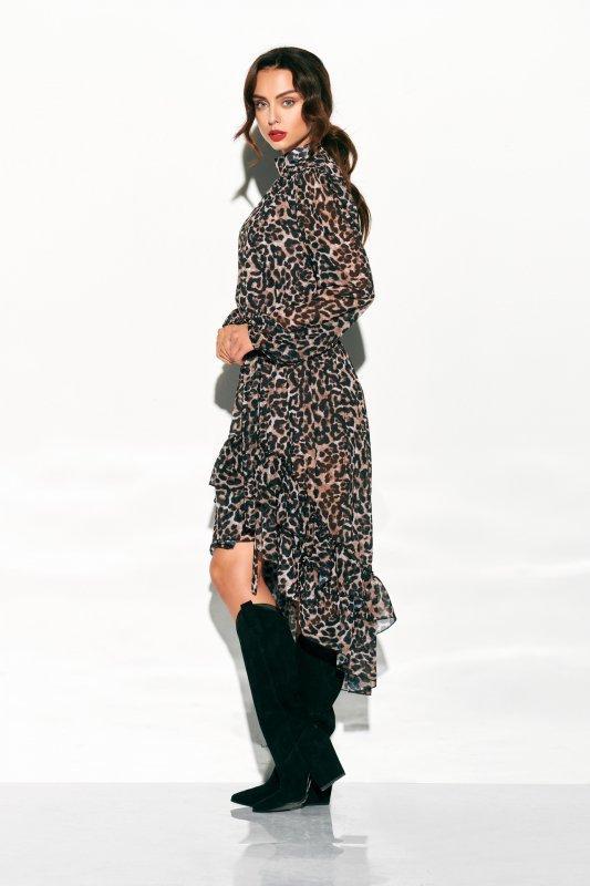 Sukienka z jedwabiem i krótszym przodem -StreetStyle LG504 - druk 12