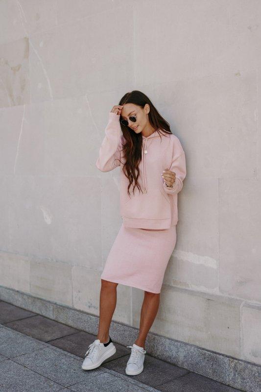 Komplet swetrowa bluza i spódnica - LSG133