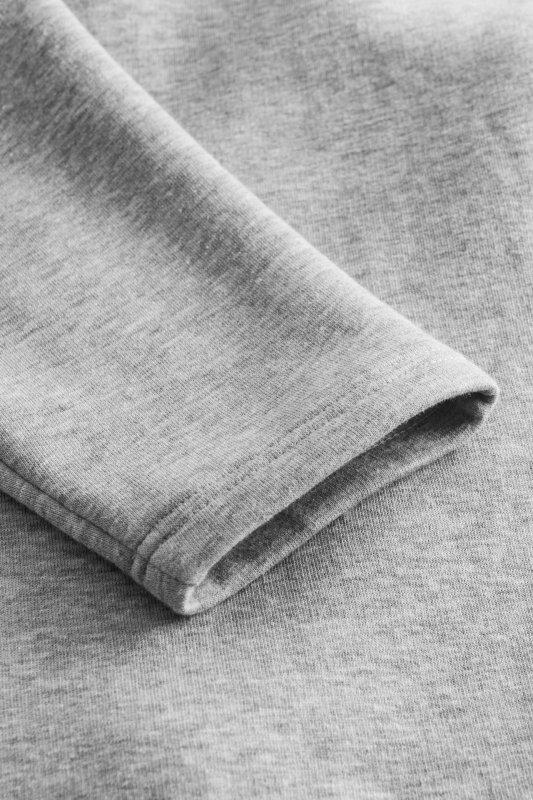 Bawełniana sukienka/bluza z falbaną LN119 - Jasnoszary - 5