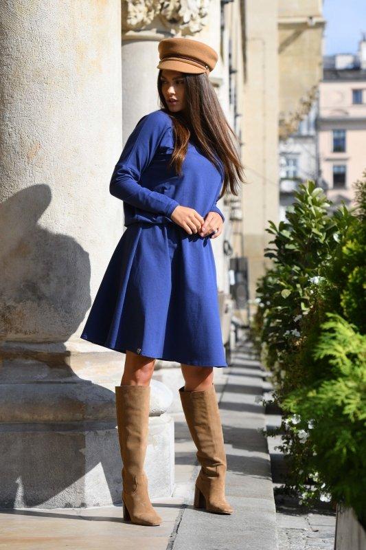 Bawełniana sukienka z guziczkami z tyłu L347
