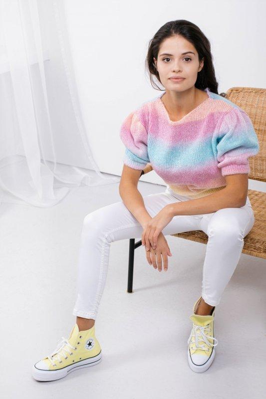 Pastelowy Sweter Tęcza - LS336 -1
