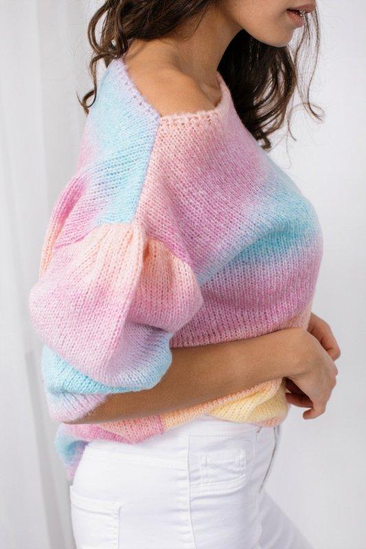 Pastelowy Sweter Tęcza - LS336 - 11