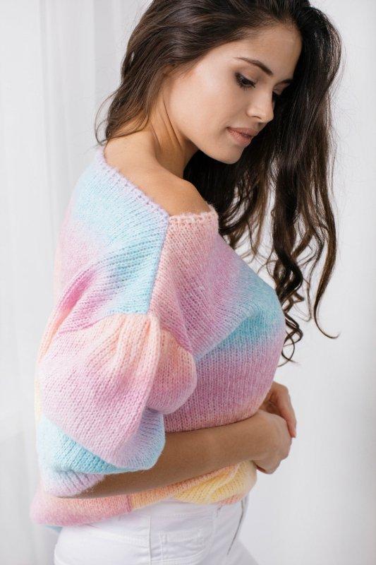 Pastelowy Sweter Tęcza - LS336 - 13