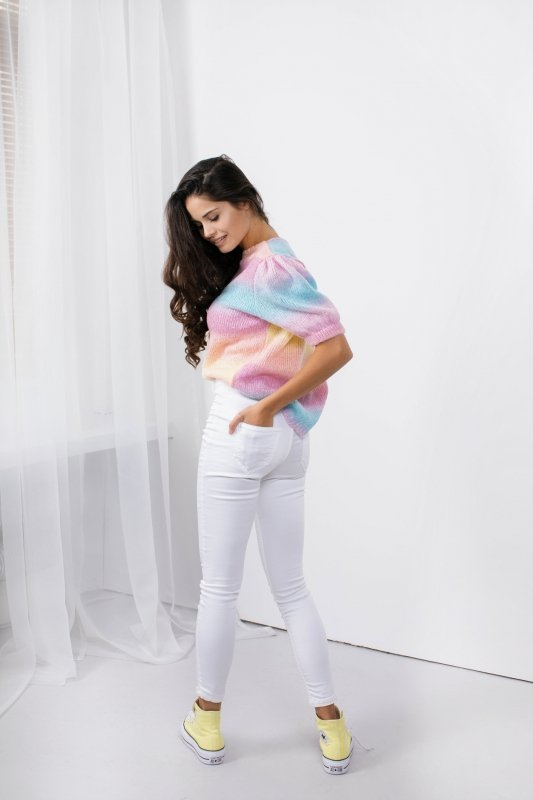 Pastelowy Sweter Tęcza - LS336 - 14