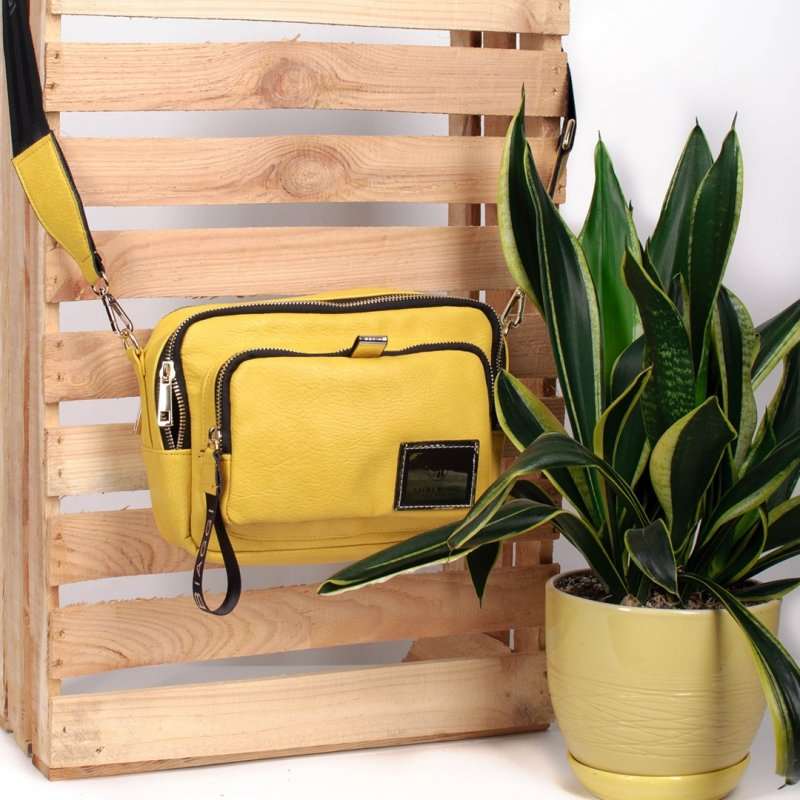 Laura Biaggi kuferek listonoszka ekoskóra - żółta_8