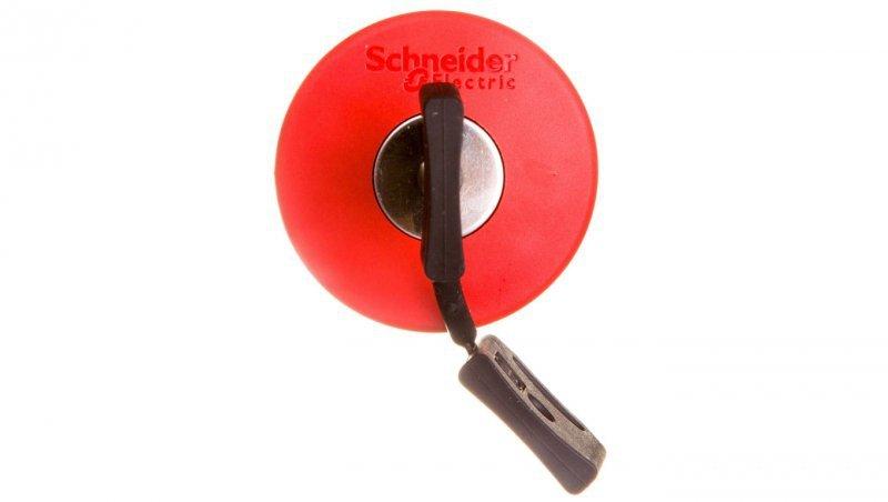 Napęd przycisku grzybkowego czerwony z kluczykiem ZB4BS944
