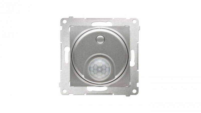 Simon 54 Czujnik ruchu z przekaźnikiem srebrny mat DCR10P.01/43