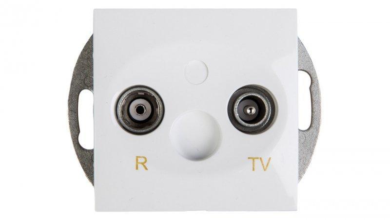 Kontakt Simon 54 Gniazdo antenowe RD/TV końcowe separowane białe DAK.01/11