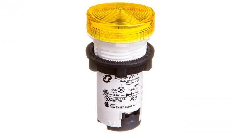 Lampka sygnalizacyjna 22mm żółta 230V AC XB7EV75P