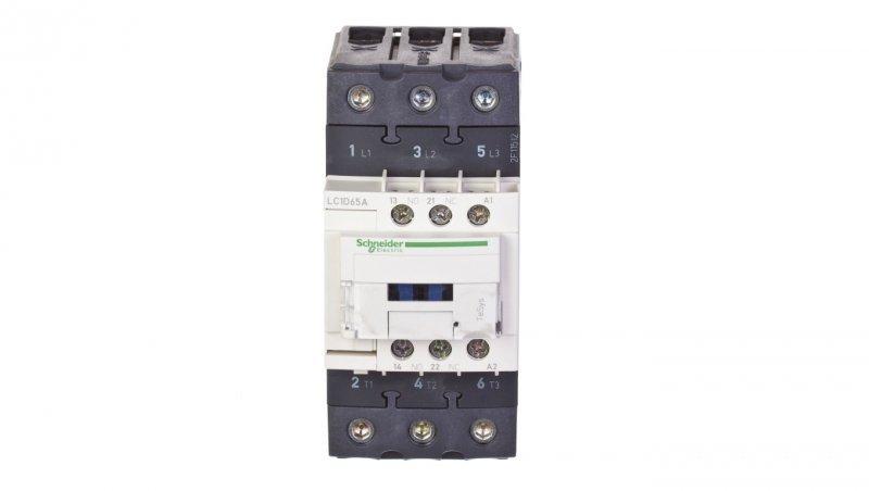 SCHNEIDER Stycznik mocy 65A 3P 400V AC 1Z 1R (EVK) LC1D65AV7