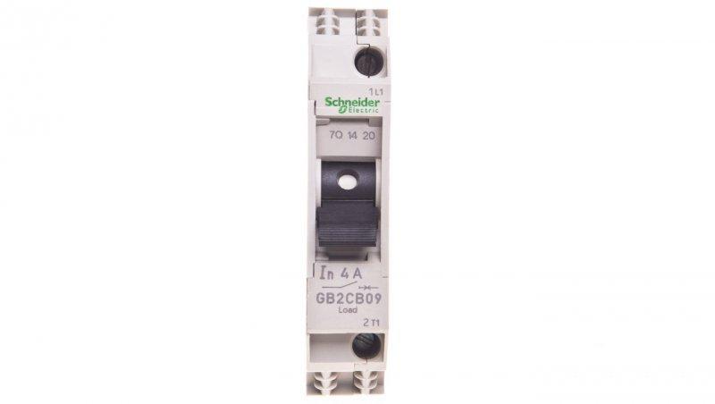 SCHNEIDER Wyłącznik termo-magnetyczny 1P 4A 6kA AC GB2CB09