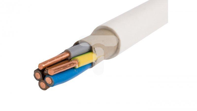 Przewód instalacyjny YDY 5x10 żo biały 450/750V 13025033 /100m/