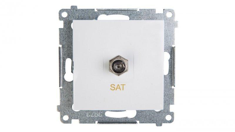 Kontakt Simon 54 Gniazdo antenowe pojedyncze SAT białe DASF1.01/11