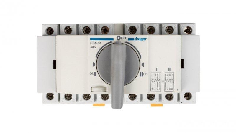 Przełącznik w układzie przełącznym I-0-II 4P 40A HIM404