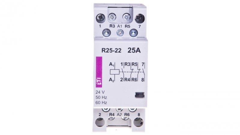 Stycznik modułowy 25A 24V AC 2Z 2R R 25-22 24V 002462341