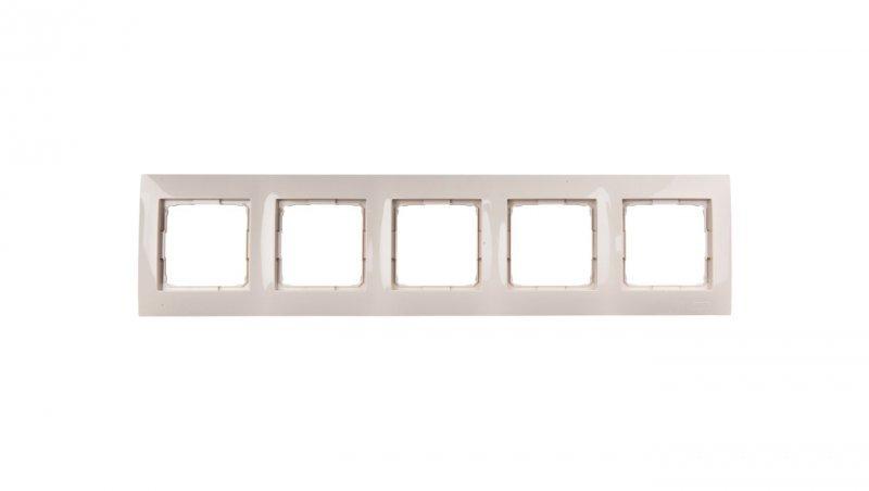Simon 54 Premium Ramka pięciokrotna kremowa DR5/41