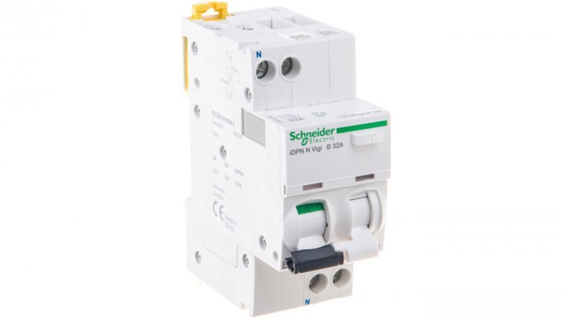 Wyłącznik różnicowo-nadprądowy 2P 32A B 0,03A typ AC iDPN N VIGI A9D55632