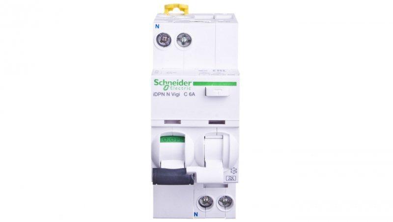 Wyłącznik różnicowo-nadprądowy 2P 6A C 0,03A typ A iDPN N VIGI A9D32606