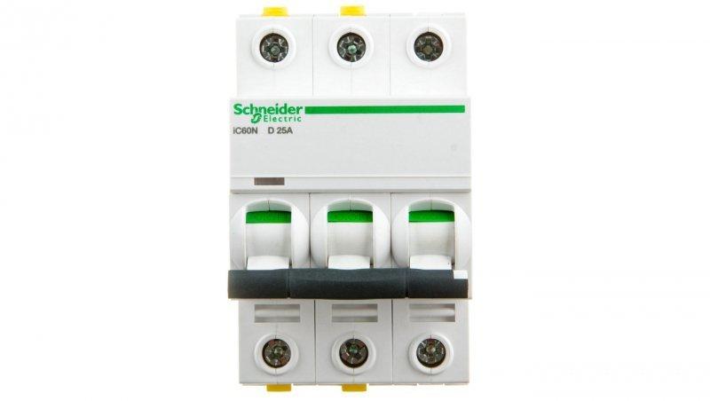 Wyłącznik nadprądowy 3P D 25A 6kA AC iC60N-D25-3 A9F05325