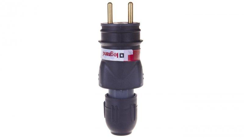 HELMO Wtyczka przenośna gumowa 16A 2P+Z 230V IP44 50110
