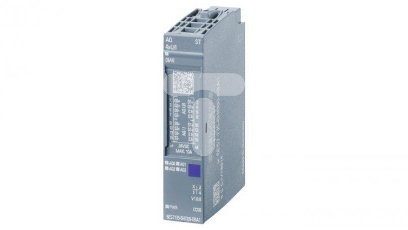 Moduł wyjść analogowych SIMATIC ET 200SP 4 WYJŚCIA NAPIĘCIOWE/PRĄDOWE ROZDZIELCZOŚĆ 16-BITÓW 6ES7135-6HD00-0BA1