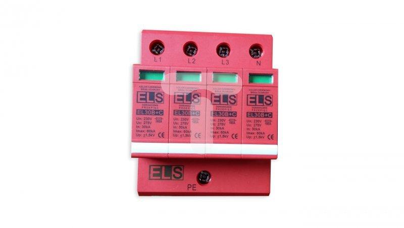 Ogranicznik przepięć B+C Typ 1+2 4P 275V 60kA 1,5kV EL30 4P 4,5kA