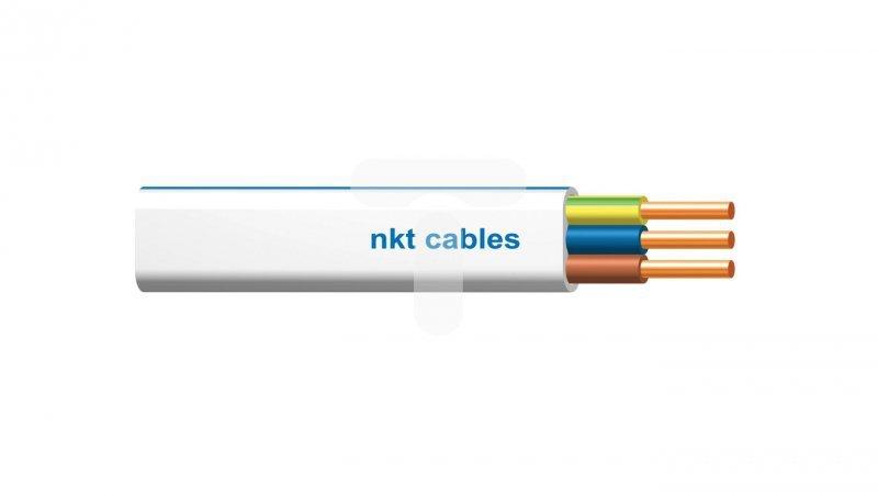 Przewód nkt instal plus YDYp 3x1,5 żo biały 450/750 /50m/