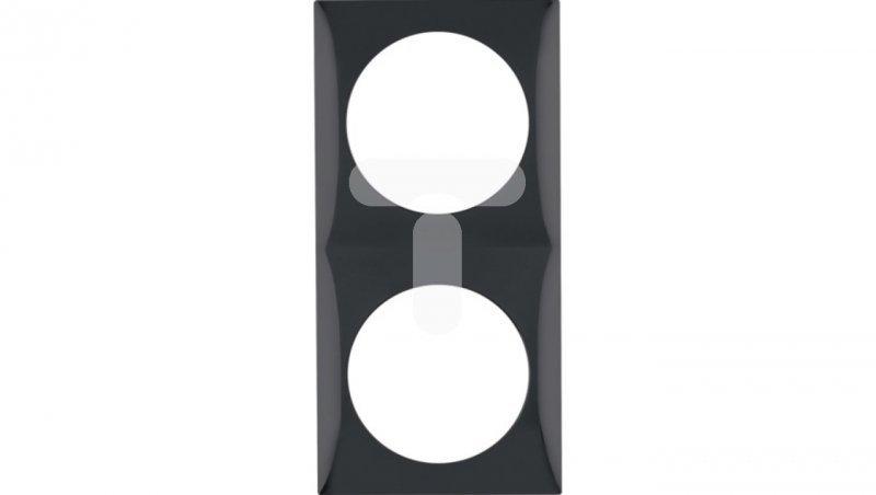 Integro Flow Ramka podwójna czarny połysk 918262510