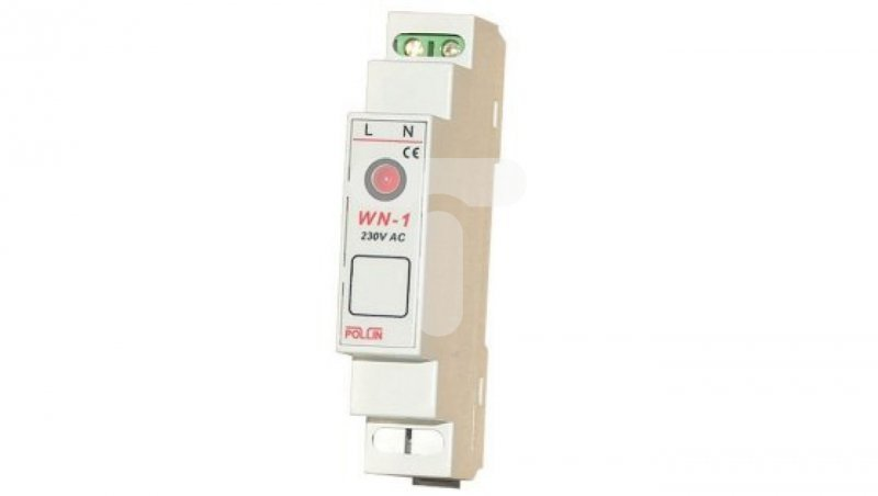 Wskaźnik napięcia LED 1-fazowy 230V AC TH35 WN-1