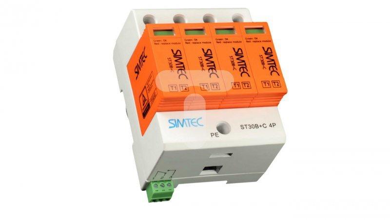 Ogranicznik przepięć B+C Typ 1+2 4P 30kA 275V SIMTEC ST30B+C Typ 1+24P 85201010