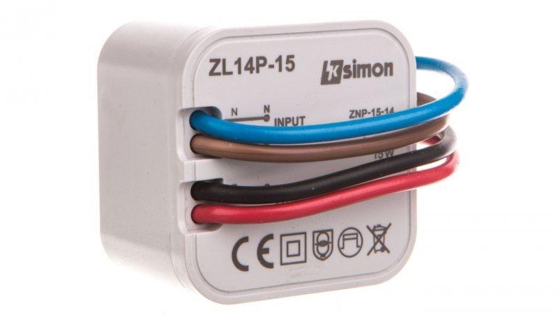 Simon 54 Zasilacz LED dopuszkowy 14V DC 15W ZL14P-15