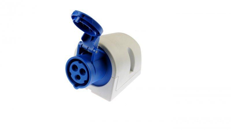 Gniazdo stałe 16A 3P 230V niebieskie IP44 113-6