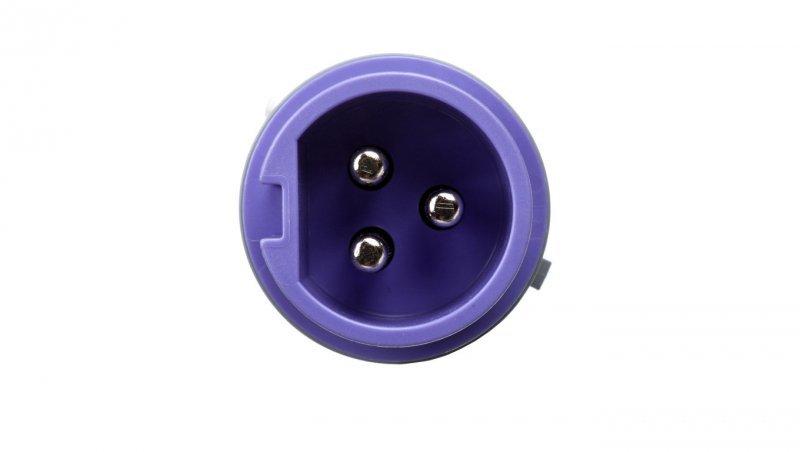 Wtyczka przenośna 16A 3P 24V fioletowa IP44 TWIST 063v
