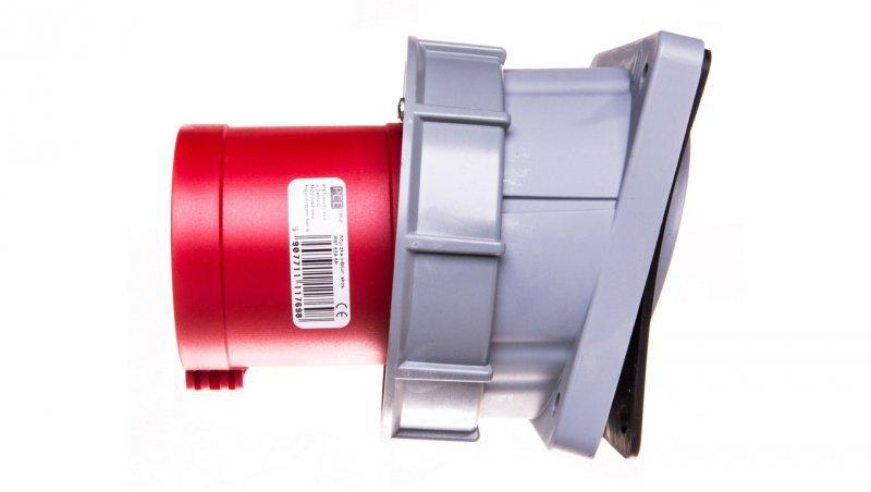 Wtyczka tablicowa skośna 63A 5P 400V czerwona IP67 POWER TWIST 735-6