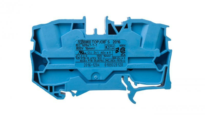 Złączka szynowa 2-przewodowa 16mm2 niebieska 2016-1204 TOPJOBS