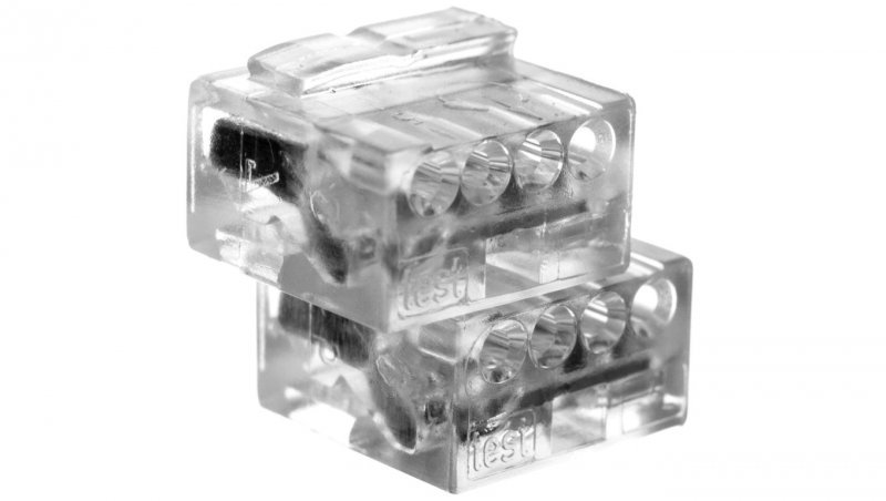 Złączka do puszek instalacyjnych MIKRO 4-przewodowa przeźroczysta 243-144 /100szt./