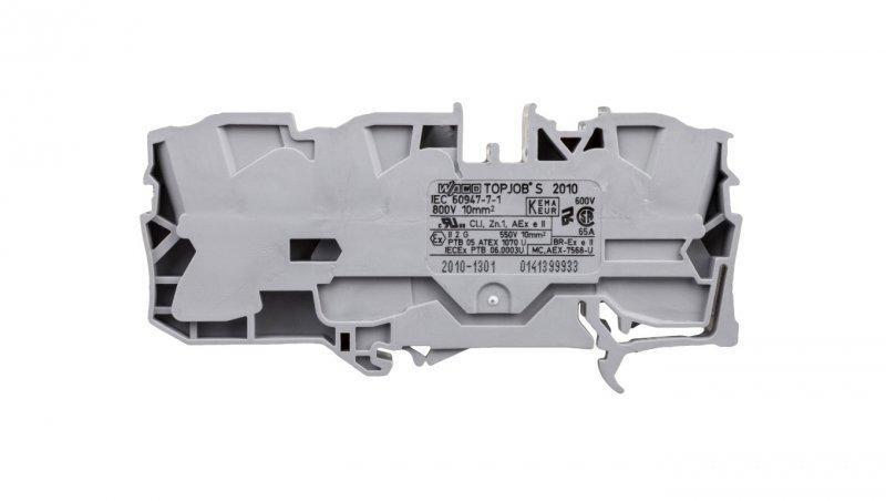 Złączka szynowa 3-przewodowa 10mm2 szara 2010-1301 TOPJOBS