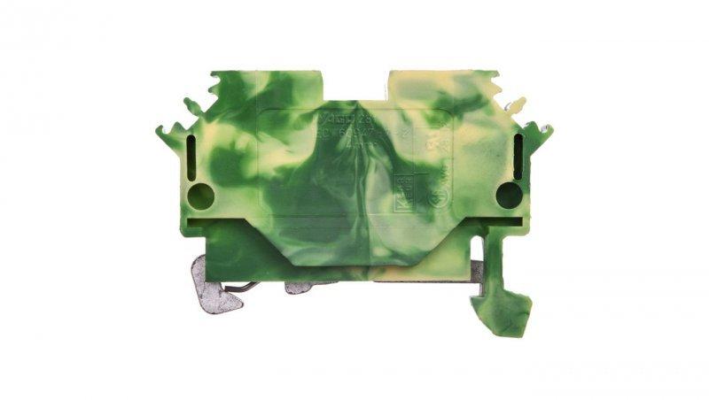 Złączka 2-przewodowa 4mm2 żółto-zielona 281-607