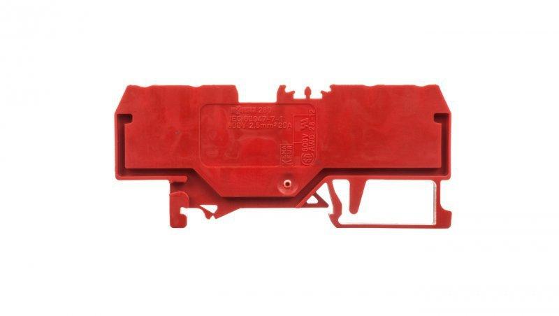 Złączka szynowa 4-przewodowa 2,5mm2 czerwona 280-830