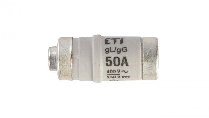 Wkładka bezpiecznikowa D02 50A gG 400V AC/250V DC E18 002212004