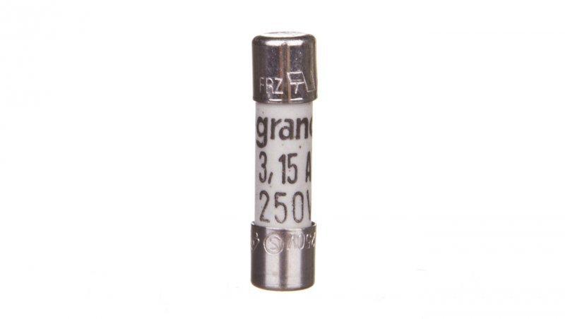 Legrand Wkładka bezpiecznikowa cylindryczna 5x20mm 3,15A F 250V 010230