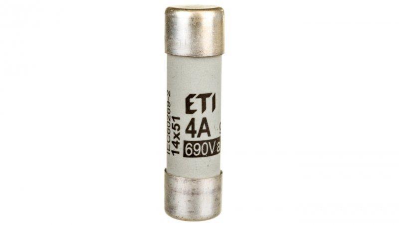 Wkładka bezpiecznikowa cylindryczna 14x51mm 4A gG 690V CH14 002630003