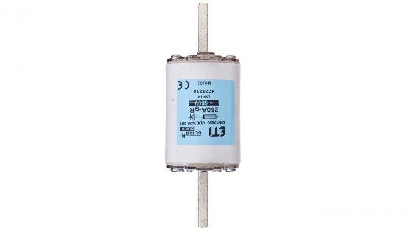 Wkładka bezpiecznikowa NH1 250A gR 690V M1UQ2 004723219