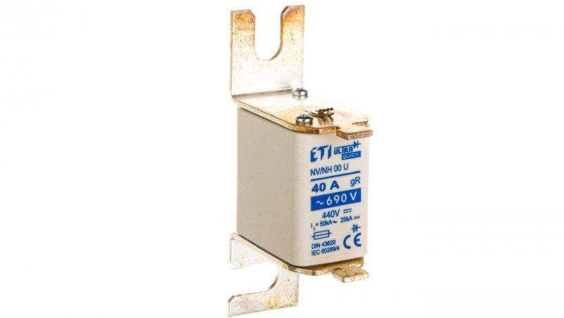Wkładka bezpiecznikowa NH00 S80 40A gR 690V S00UQ U 004331110
